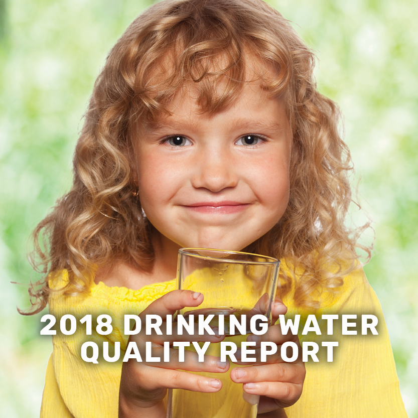2018 drinking water quality report banner