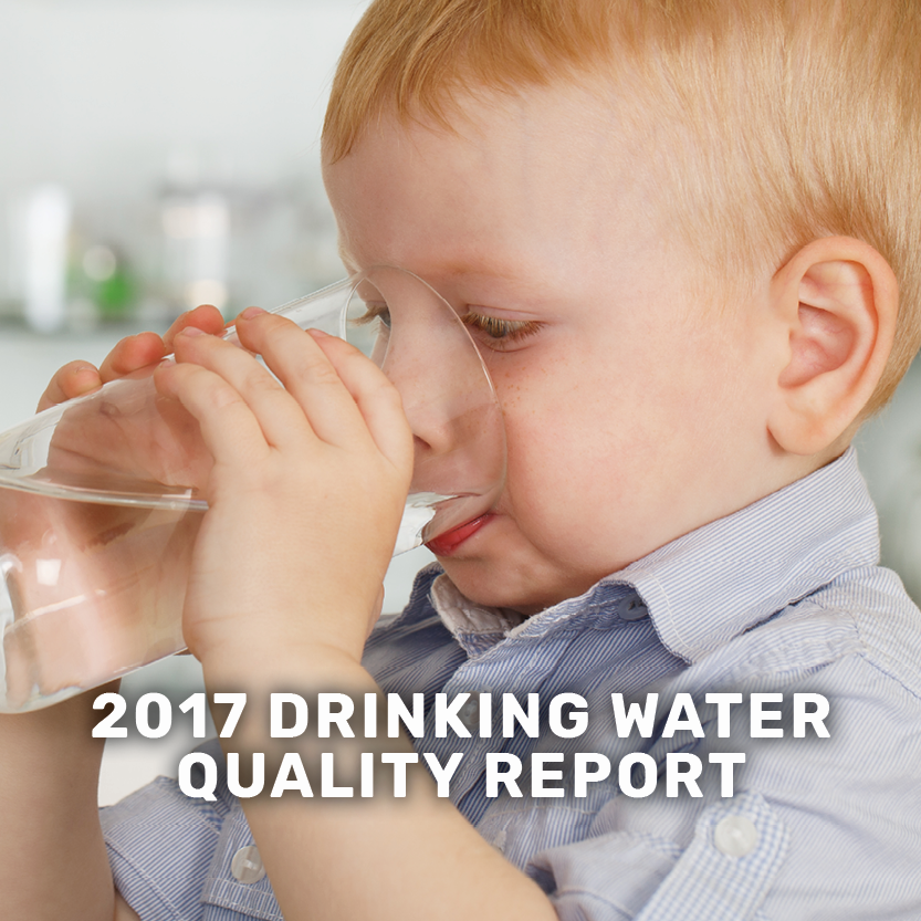 2017 drinking water quality report banner