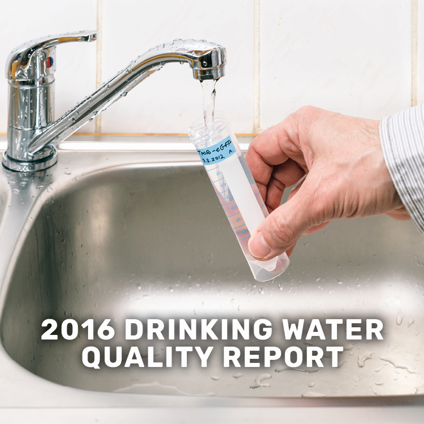 2016 drinking water quality report banner