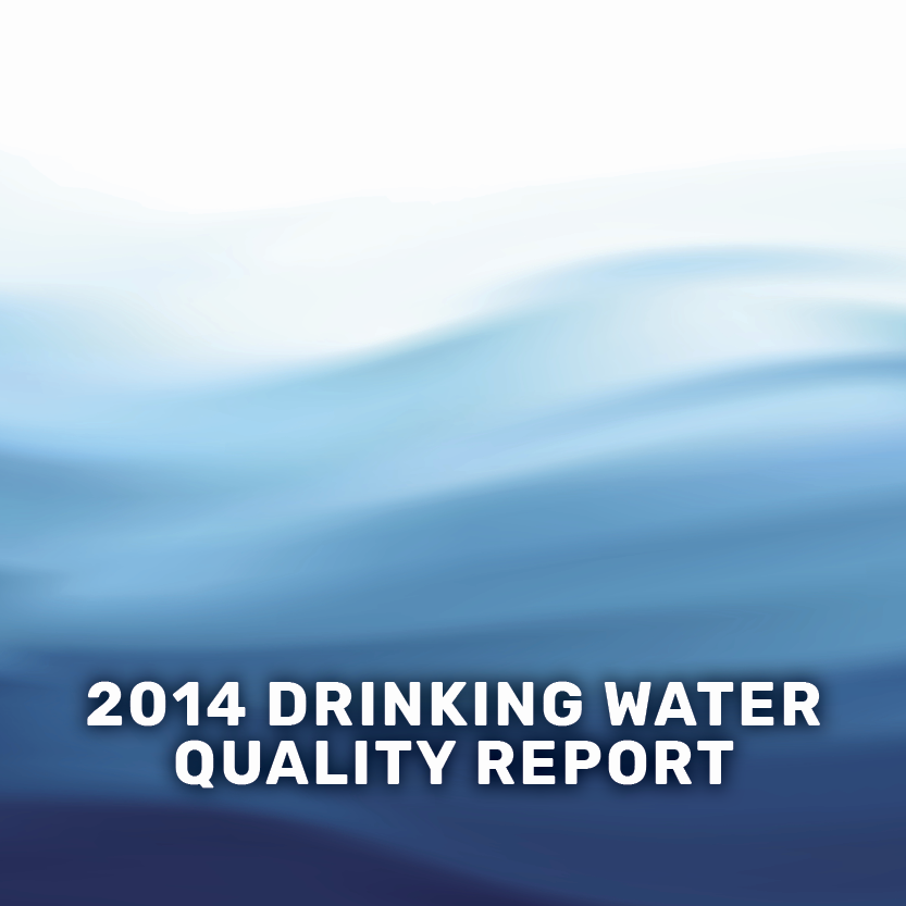 2014 drinking water quality report banner