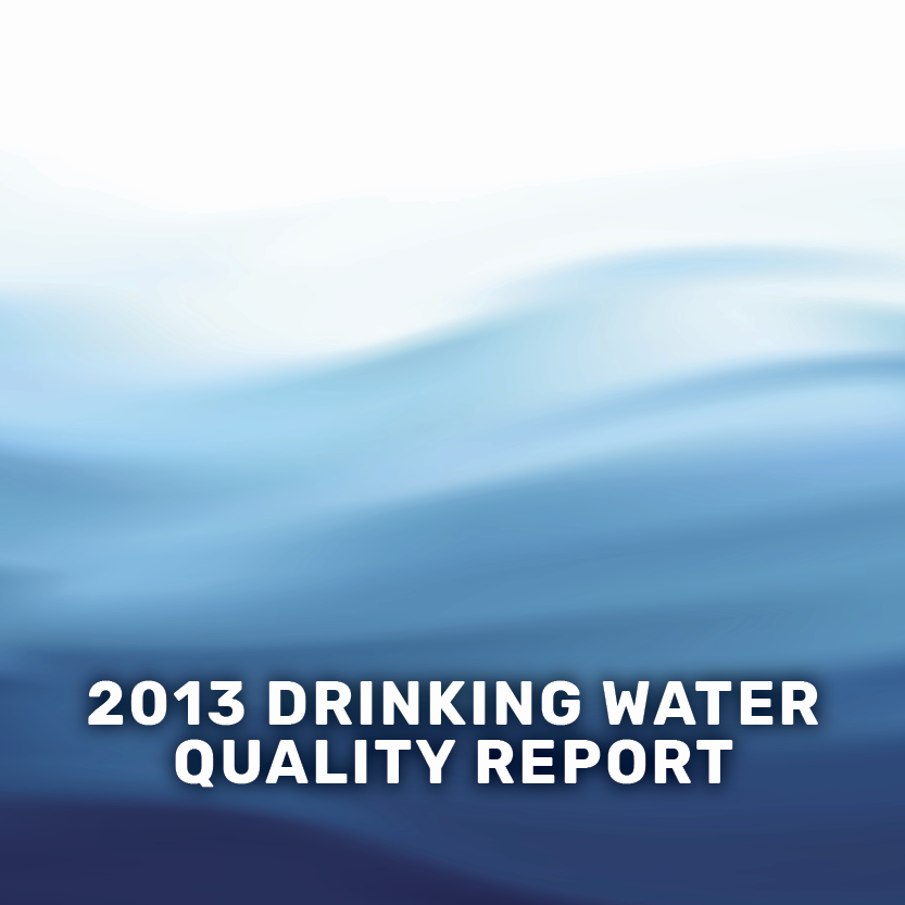 2013 drinking water quality report banner