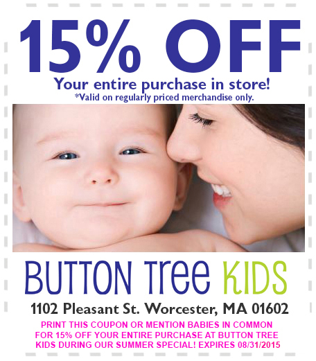 Button Tree Kids Summer 2015 coupon