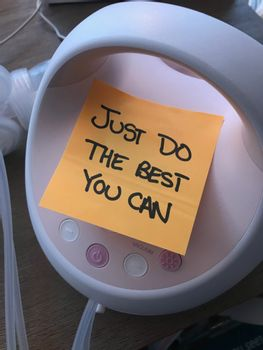 It's a great idea to post encouraging notes around yourself.