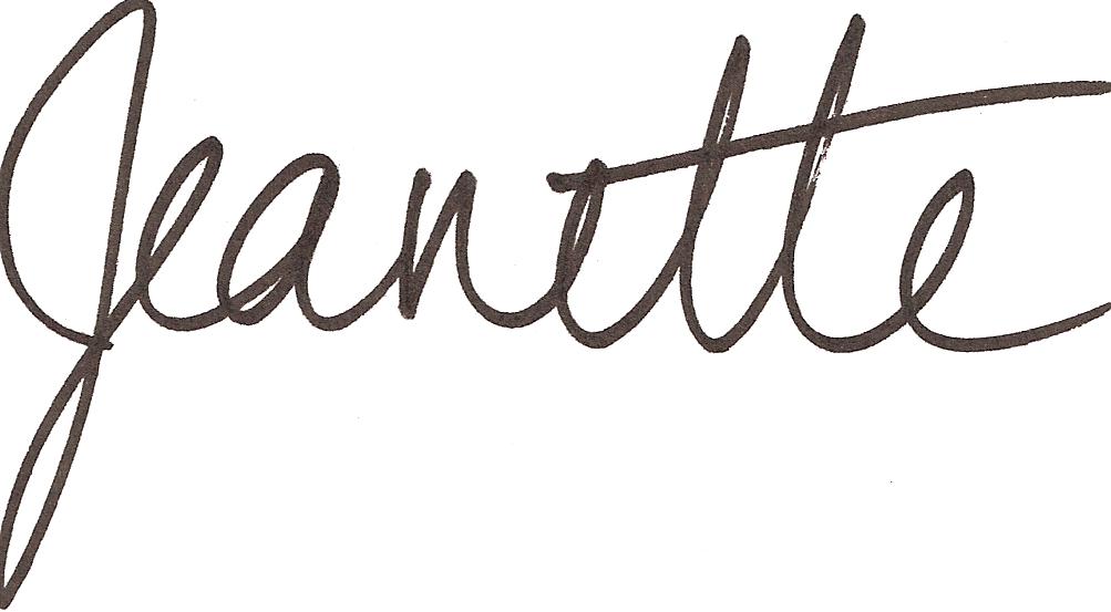 Jeanette signature