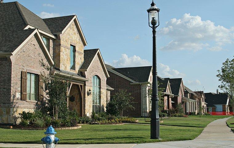 street view of a community of homes in dallas texas