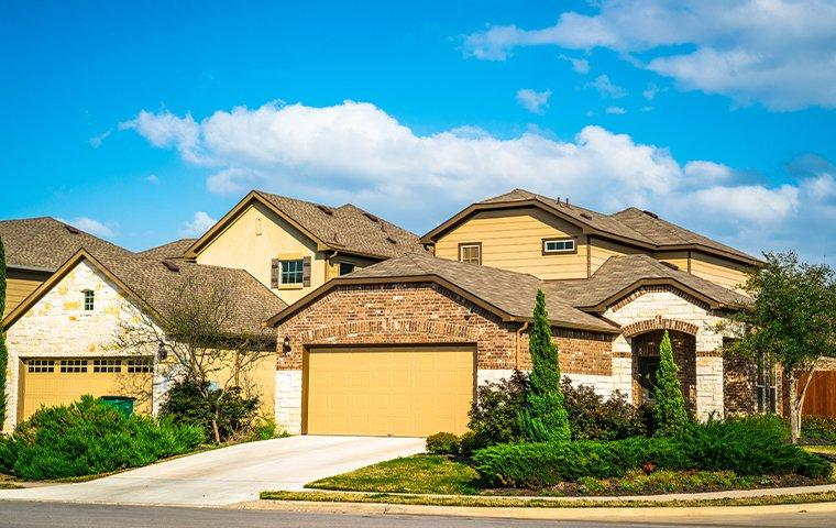 street view of a community of homes in denton texas