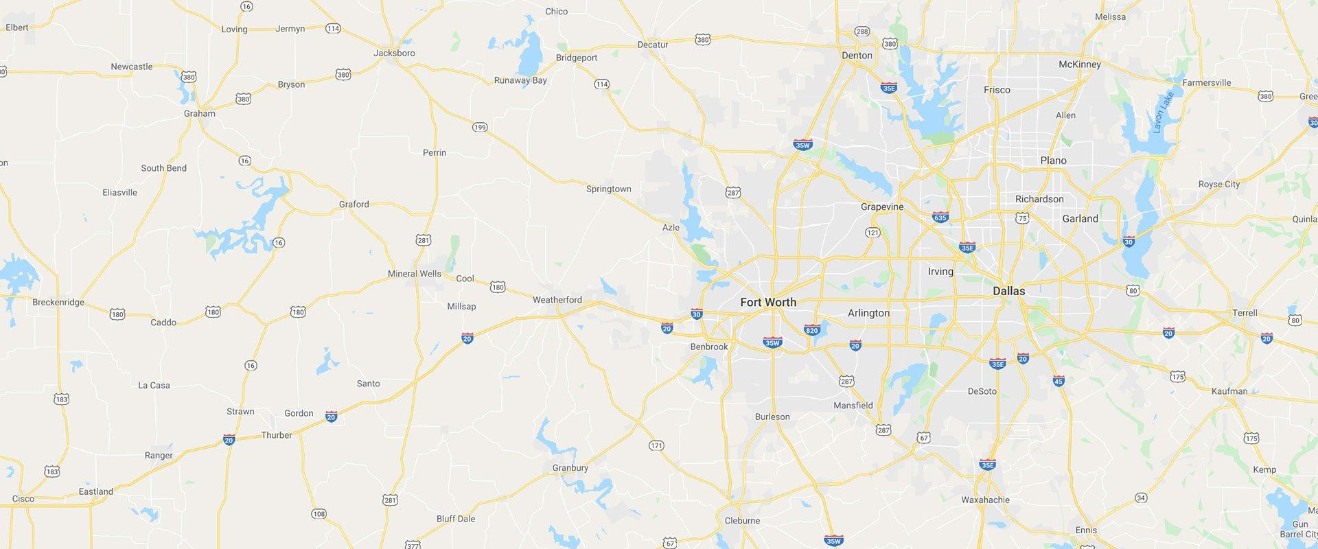 a map of north texas