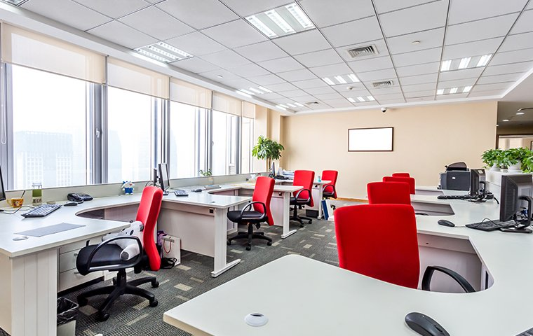 the interior of an office setting