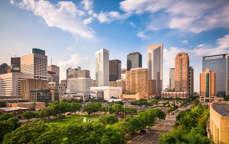 skyline view of houston texas