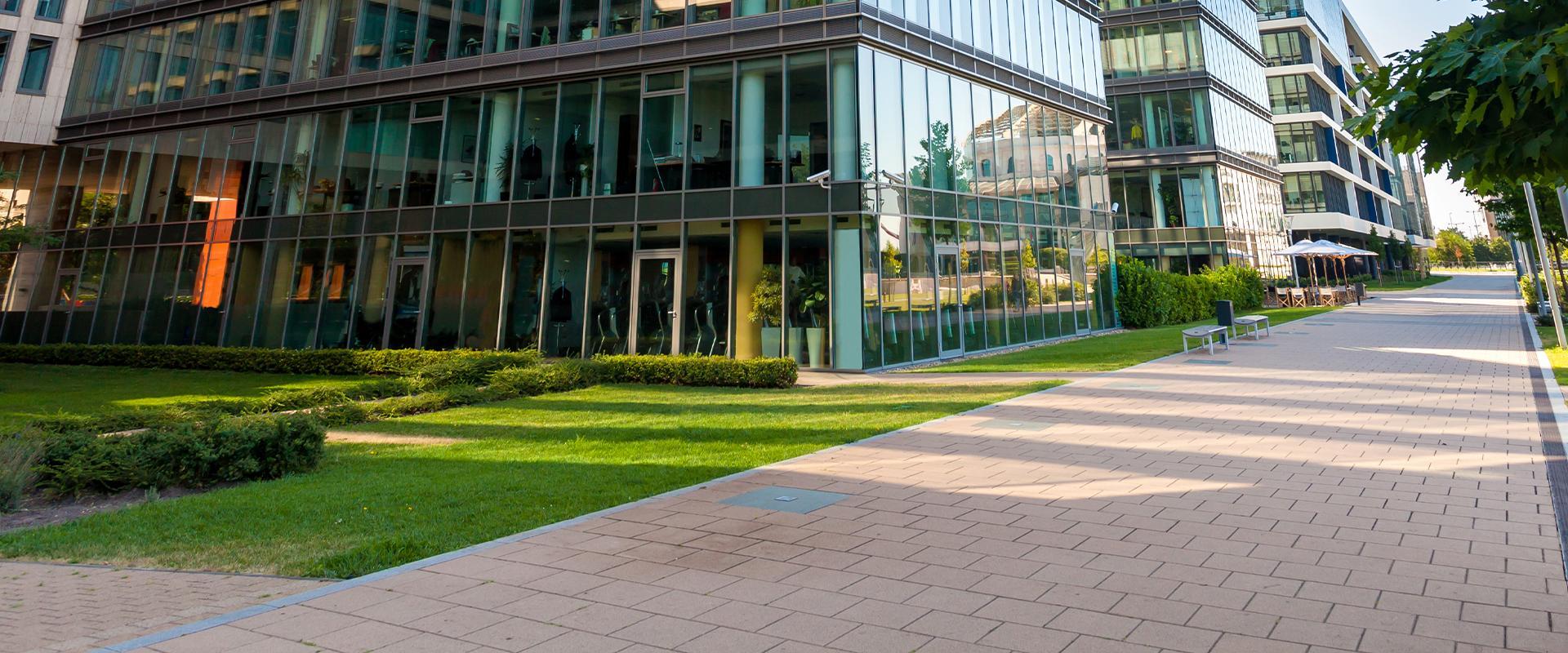 exterior commercial walkway