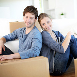 family preparing to move