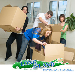 Packing Boxes In Long Island Before Moving