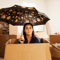 woman getting ready to move