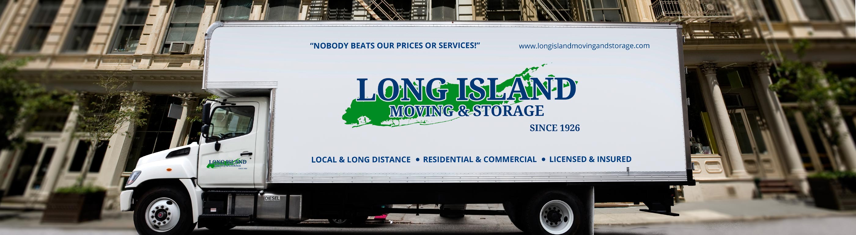 moving van outside business