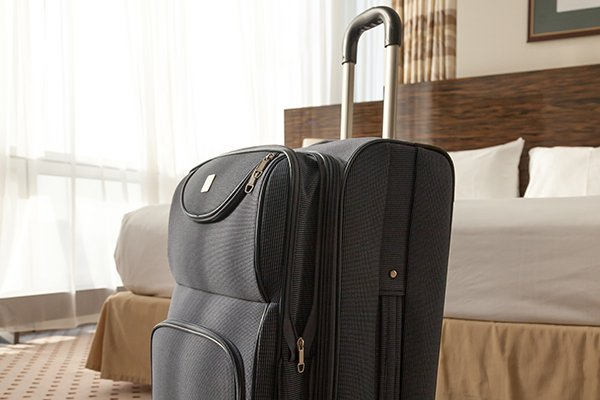 a set of luggage inside of a hotel room in west chester pennsylvania