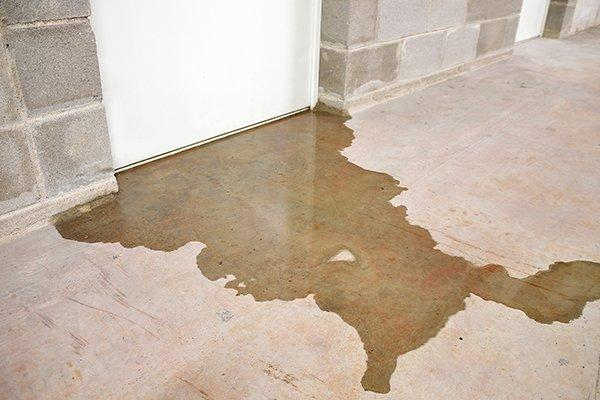 water leaking under door