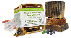 Chaga & Wild Blueberry Face & Body Bars