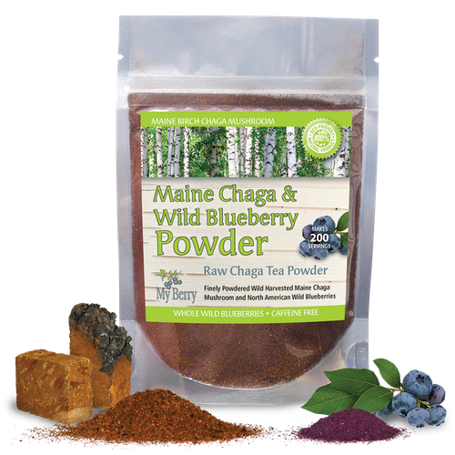 Maine Chaga & Wild Blueberry Powder