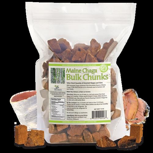 Maine Chaga Bulk Chunks, 15oz