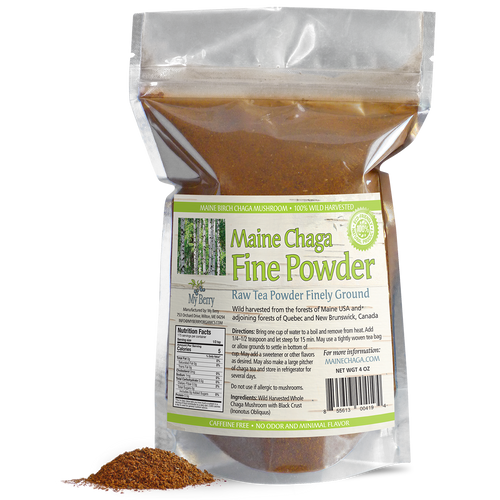 Maine Chaga Fine Powder