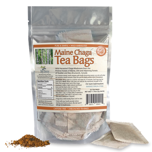 Maine Chaga Tea Bags (25 count)