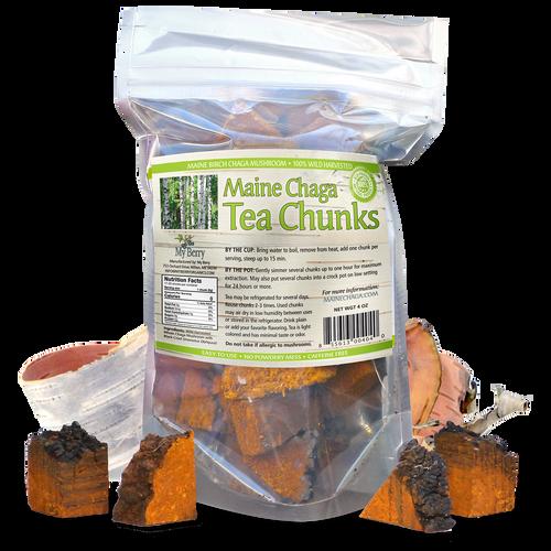 Maine Chaga Premium Tea Chunks 4oz