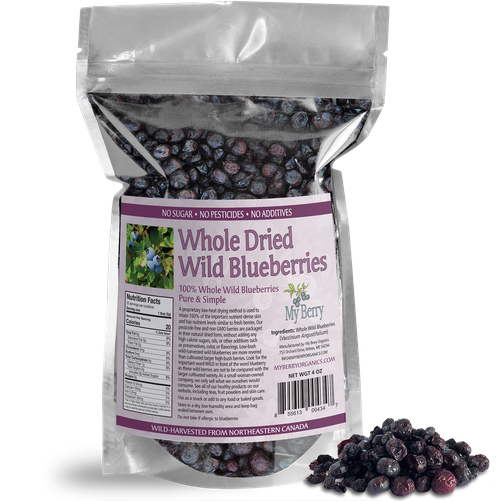 Whole Dried Wild Blueberries - 4oz