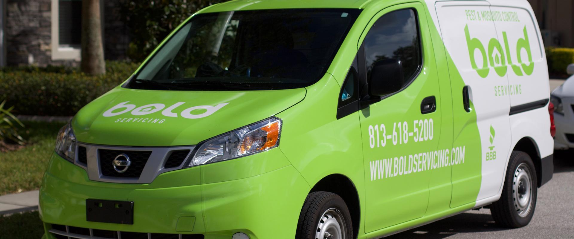bold servicing company van