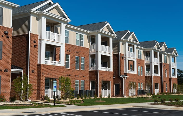 a row of apartments in lago vista texas