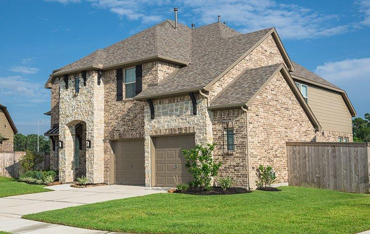 street view of a large brick house in lakeway texas