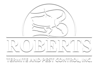 white roberts termite and pest control logo