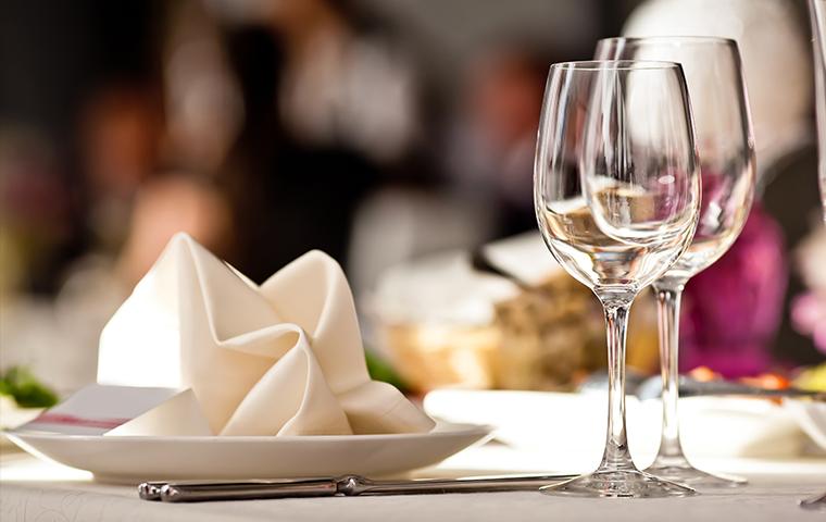 a restaurant table setting in sylvarena mississippi