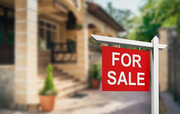 for sale sign outside a santa clarita california home