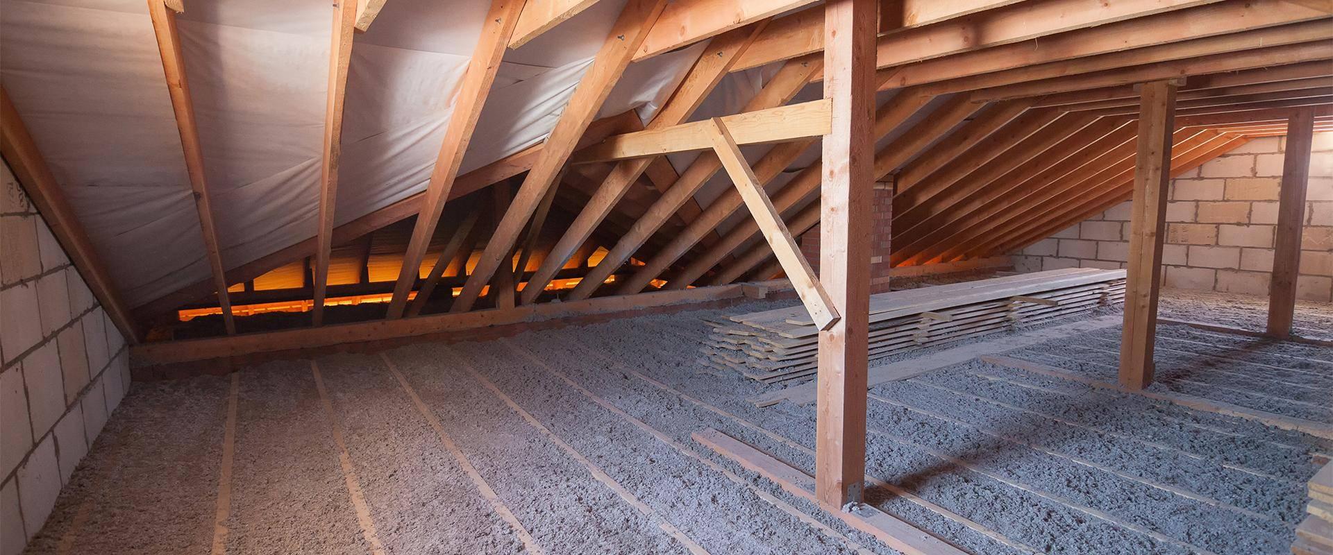 inside of an attic