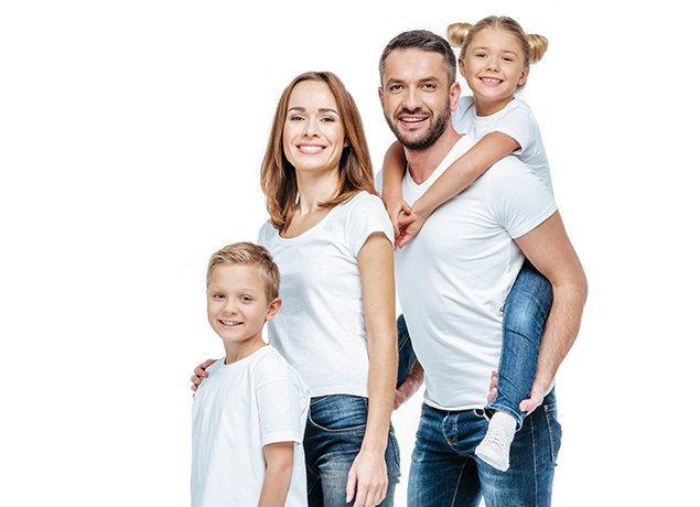 a happy family of four in roanoke virginia