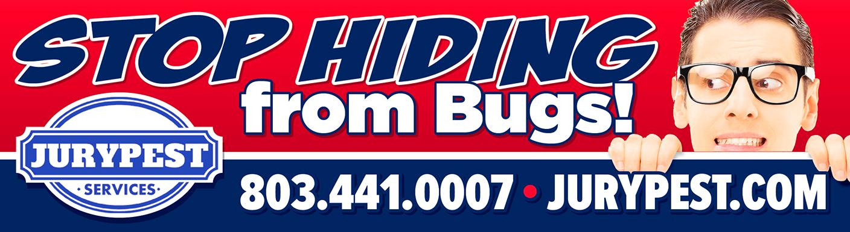 jury pest stop hiding from bugs billboard