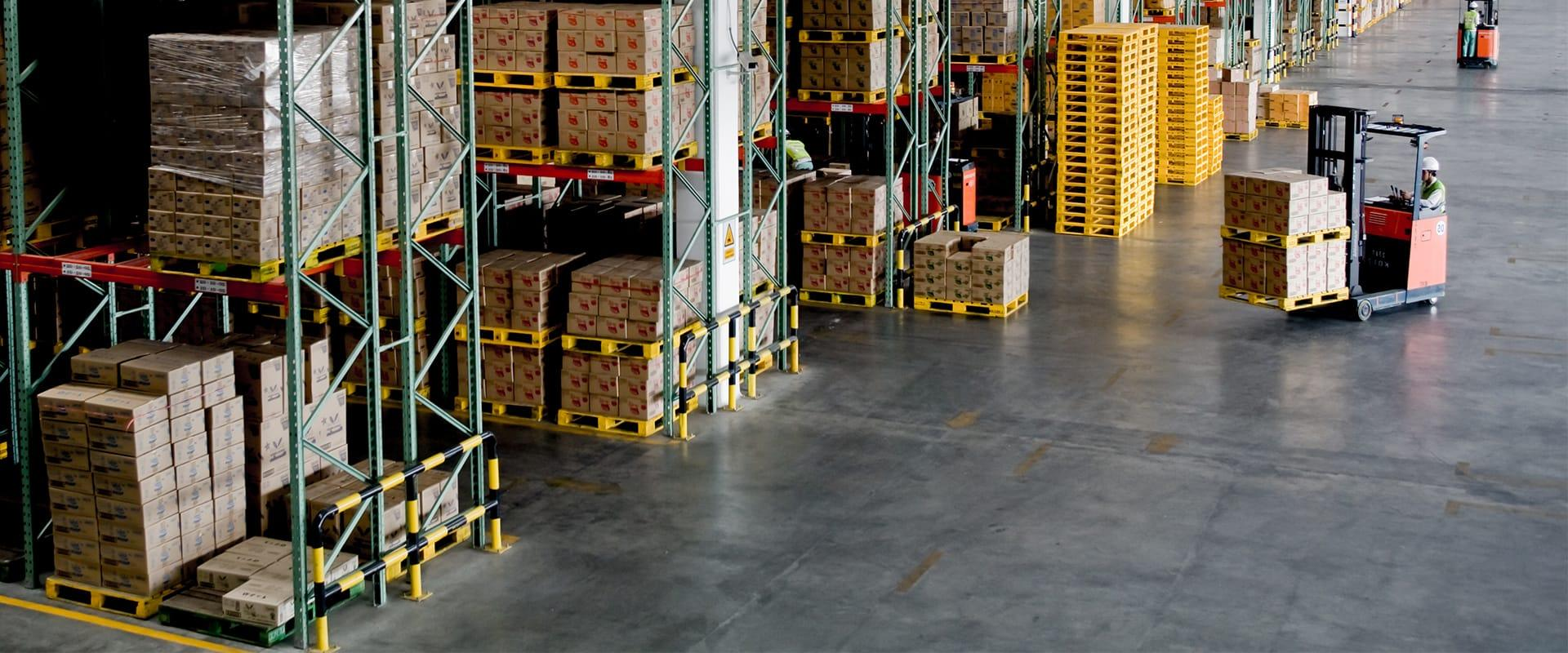interior of a large warehouse in columbia south carolina