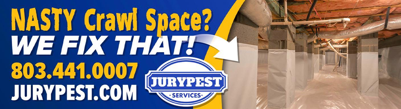 jury pest nasty crawlspace billboard