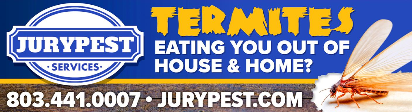jury pest termites eating you out of house and home billboard