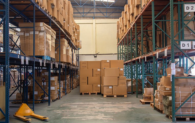 the interior of a commercial warehouse