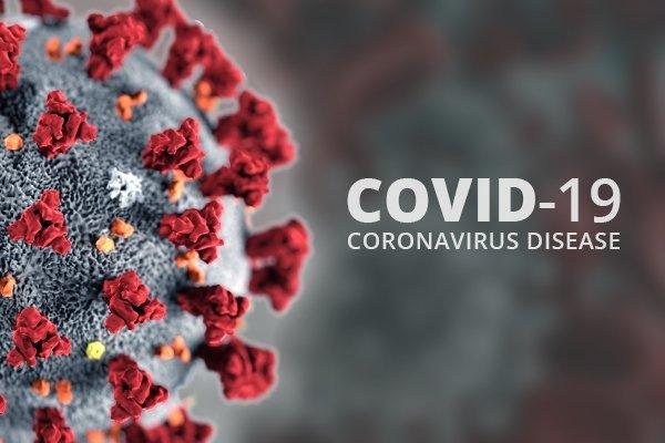 covid 19 magnified image of virus