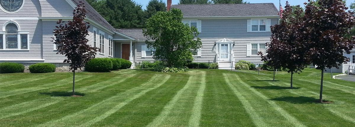 St Agnes mowed lawn