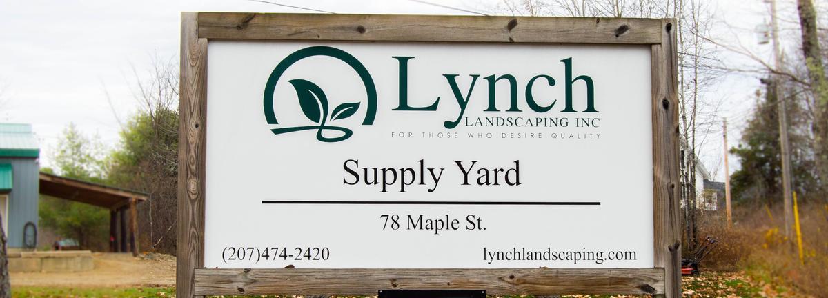 Supply yard sign