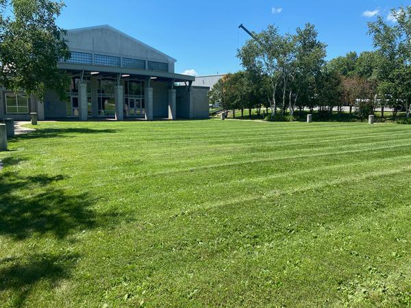 KVCC mowed lawn
