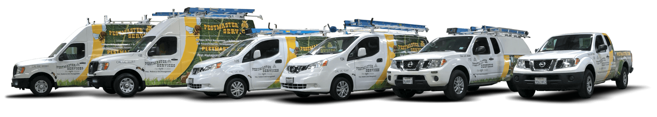 pestmaster services trucks