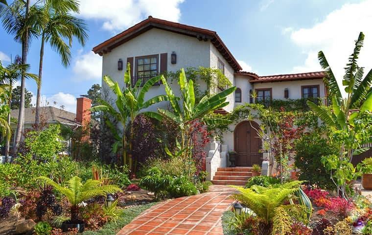 street view of a home and landscape in granada hills california