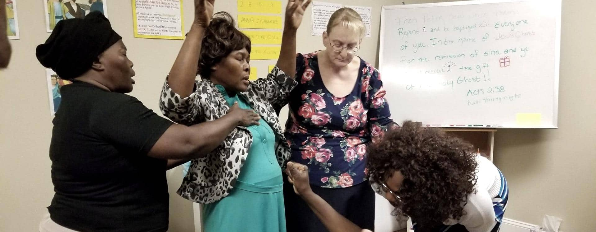 multi-cultural class worshipping