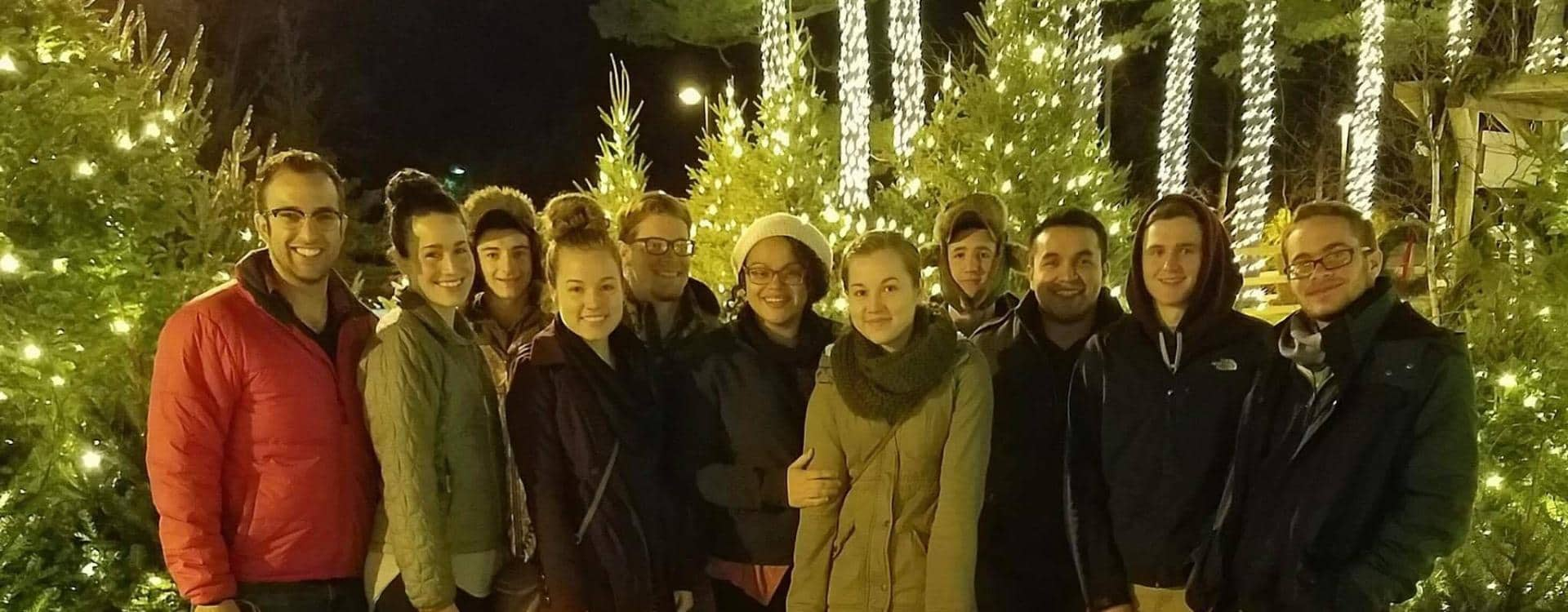 fun christmas outing for young adults