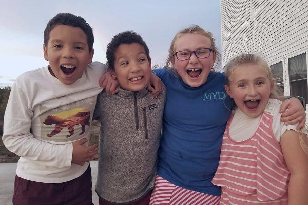kids having fun at church