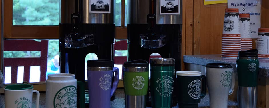 coffee mugs at the gathering place